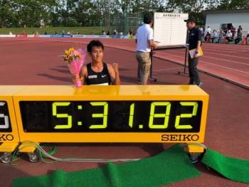 楠康成_日本最高記録を樹立
