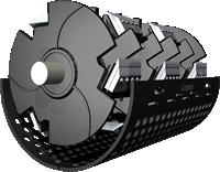 木材処理に特化した新型カッタードラム
